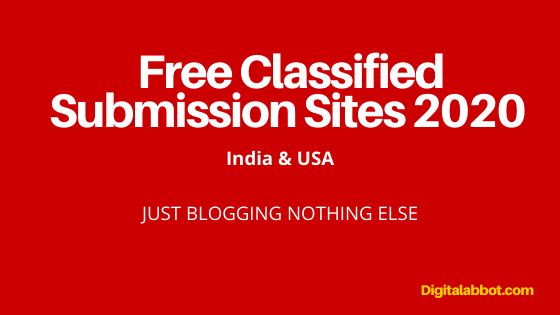 Free Classified Submission Sites 2020